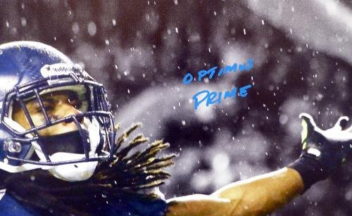 Richard Sherman Autographed Signed Framed 20x30 Canvas Photo #/25 Rs Holo 124654 Autographed NFL Art