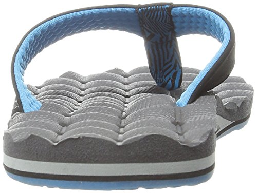 Volcom Hombres Recliner Flip Flop Sandal Gray / Blue