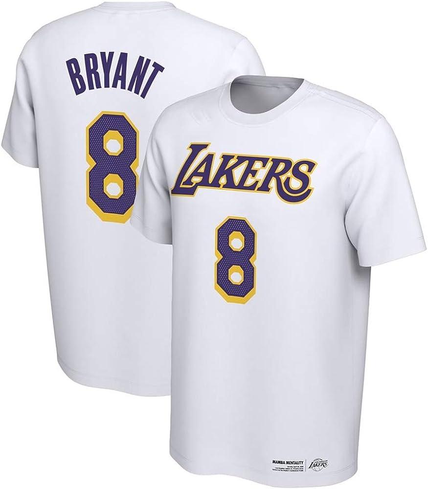 Camiseta NBA Kobe Bryant C/ómoda Abanico de Baloncesto Superior Pecho Estampado Hombre Joven Medio Manga