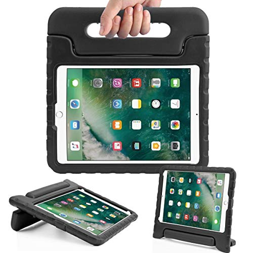 AVAWO Kids Case for New iPad 9.7 2017 & 2018 Release - Light Weight Shock Proof Convertible Handle Stand Friendly Kids Case for iPad 9.7-inch 2017 & 2018 Latest Gen (iPad 5th & 6th Gen) - Black ()