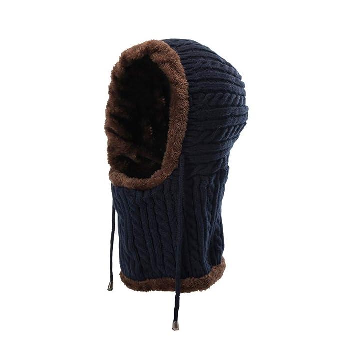 Longra Unisex Winter Cappello Invernale Di Lana Beanie Berretti Paraorecchie  Con Fodera In Pile Autunno Inverno e45275a48604