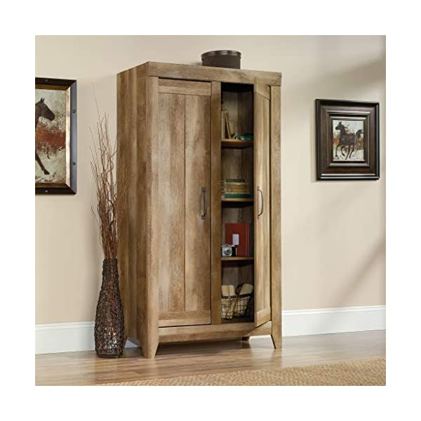 Sauder Adept Storage Wide Storage Cabinet, Craftsman Oak finish
