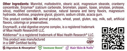 Maxi Health Yummie Oraldophilus - Acidophilus Probiotics - Tropical Flavor - 50 Chewies - Kosher by Maxi-Health (Image #2)