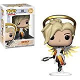 Funko Mercy: Overwatch x POP! Games Vinyl Figure & 1 POP! Compatible PET Plastic Graphical Protector Bundle [#304 / 29047 - B]