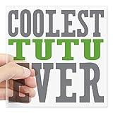 "CafePress - Coolest Tutu Square Sticker 3"" X 3 - Square Bumper Sticker Car Decal, 3""x3"" (Small) or 5""x5"" (Large)"