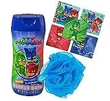 Pj Mask Bath Time Bubble Bath & Kids Scrubby Featuring...