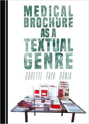 Book Medical Brochure as a Textual Genre