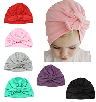 Toddler Infant Beanie Cap Newborn Boys Girls Knot Head Cotton Hat Kids Headwrap