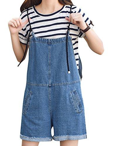 Unita Alta Stile Nerodz Tinta Quge Vita College Donna Corti Denim Pantaloncini Sciolto xOBwFngt