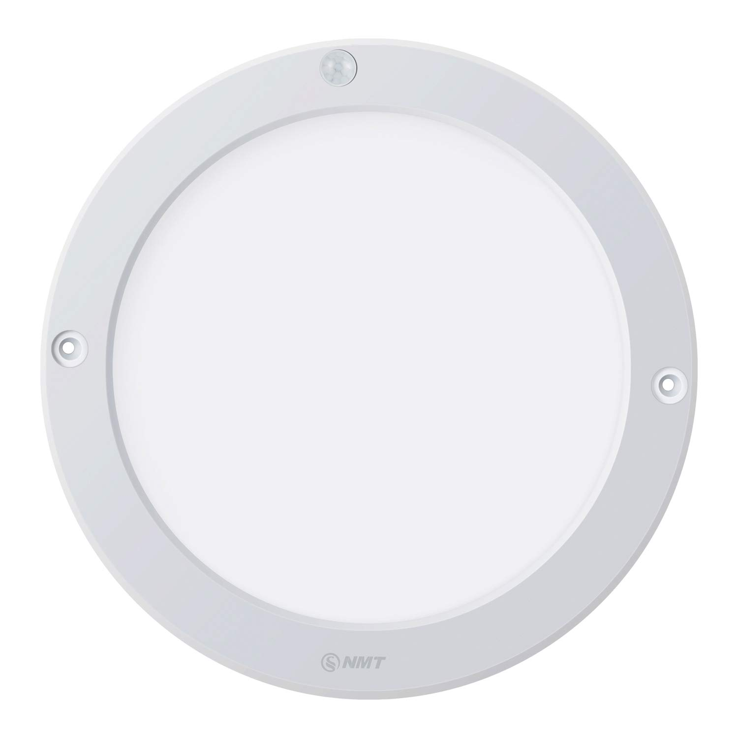"LED Panel Light PIR Motion Sensor for Day/Night Body Detector Ceiling Surface Mounted Lights 15W 1200LM 3000K Φ8.66"" Round Flush Mount Light For Corridor Stairs Depot Bathroom Toilet Room (Warm White)"