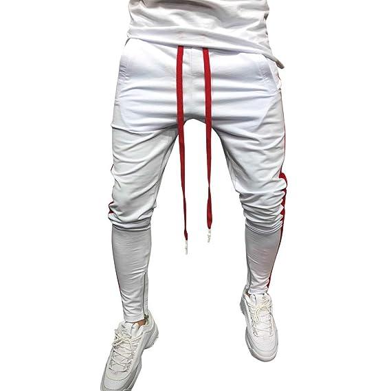 Gusspower Pantalones de chándal Sueltos Ocasionales de Aptitud Deporte de  Hombres Moda Hip Hop Patchwork Rayas Pantalones de Jogging  Amazon.es  Ropa  y ... 4f719ff616f