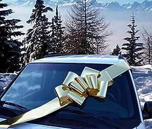 "23"" Metallic Shiny Gold Large Car Ribbon Bow"
