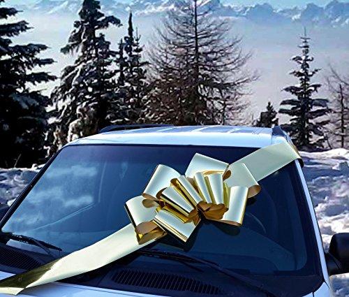23  Metallic Shiny Gold Large Car Ribbon Bow