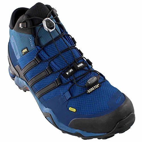 adidas Outdoor Men's Terrex Fast R Mid GTX? Tech Steel/Black/Collegiate Navy Boot 7 D (M) (Adidas Mens Steel Watch)