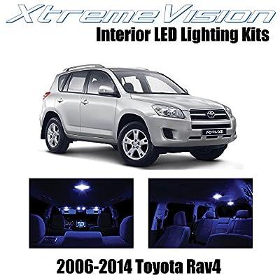 XtremeVision Interior LED for Toyota RAV4 2006-2014 (6 Pieces) Blue Interior LED Kit + Installation Tool: Automotive