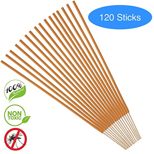 PLATANUS - 120 Sticks - Plant Based Mosquito Repellent Incense Sticks - Bamboo Infused, Citronella, Lemongrass & Rosemary - Eco Friendly, Non Toxic, All Natural, No Deet - Incense Sticks
