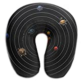 Neck Pillow With Resilient Material Solar System U Type Travel Pillow Super Soft Cervical Pillow