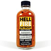 Hell Fire Detroit Hot Sauce Habanero, 4 fl oz