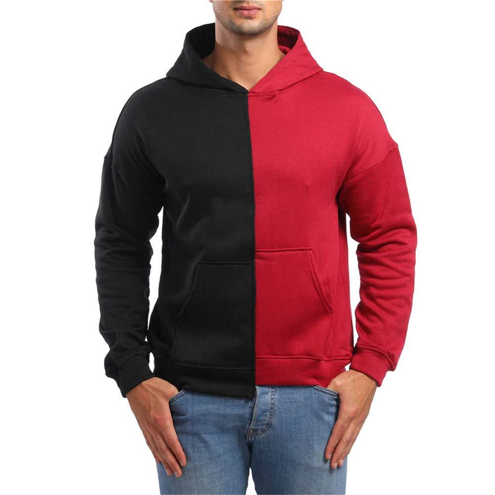 SMALLE ◕‿◕ Clearance,Sweatshirt for Men,Autumn Long Sleeve Pockets Hoodie Hooded Sweatshirt Top Tee Outwear Blouse