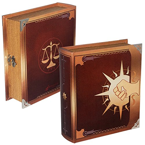 Wizardry Foundry Grimoire Deck Box, Legion | Large Wooden Spellbook Style Fabric Lined Deck or Cube Box for MTG, Yugioh, and Other TCG | 1000+ Card Capacity