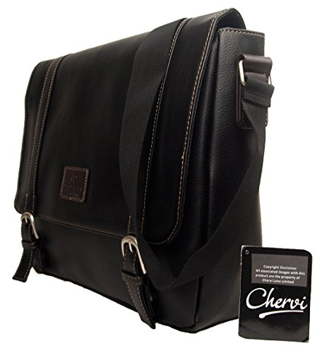 a4737d9e4d High Quality Mens Womens Faux Leather Messenger Satchel Business Work  College Shoulder Bag  Amazon.co.uk  Shoes   Bags