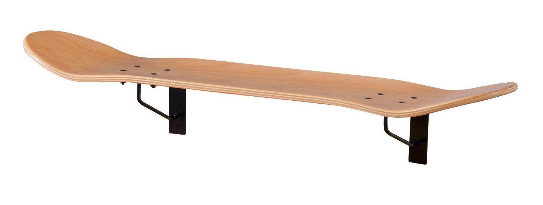 スケートボード ウォールラック 壁面収納 木製 リビング ディスプレイ ラック シェルフ 棚 玄関 サーフィン おしゃれ カフェ ナチュラル B01LVYS8K8