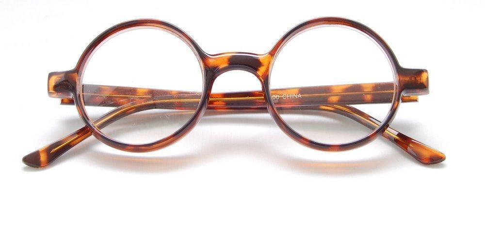 The Cambridge - Iris Style Totally Round Reading Glasses, 2.75, Tortoise by Boomer Eyeware (Image #3)