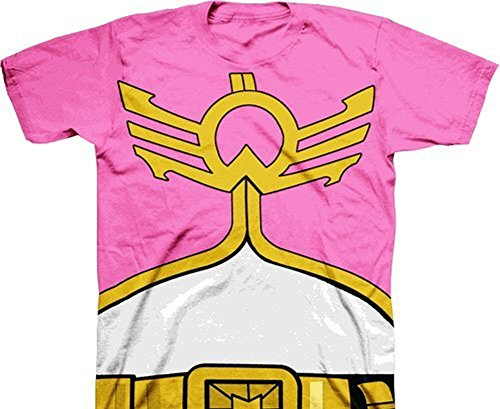 [Mighty Morphin Power Rangers Megaforce Youth Pink Costume T-shirt (Youth Large)] (Power Ranger Samurai Costumes)