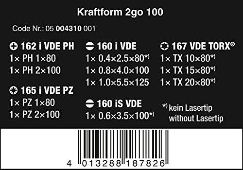 Wera Forceform Screwdriver Set 2Go 100, 11Piece, 1Piece, 05004310001