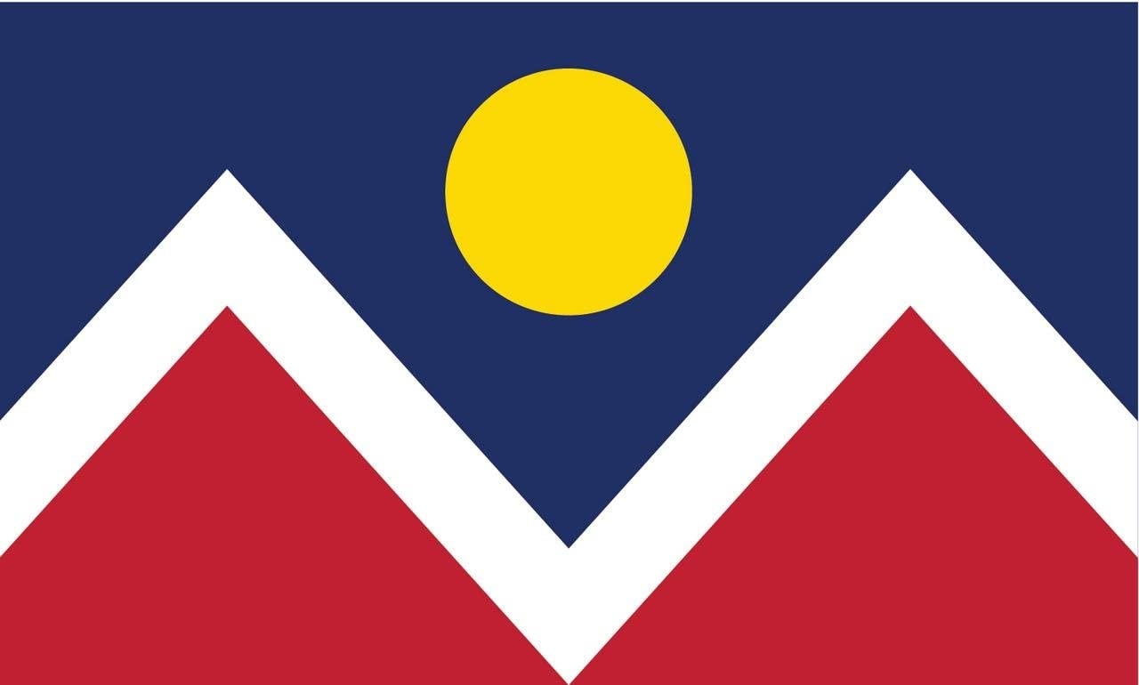 2-Pack Denver City Flag Decal Sticker | 5-Inches By 3-Inches | Premium Quality Vinyl | PD360