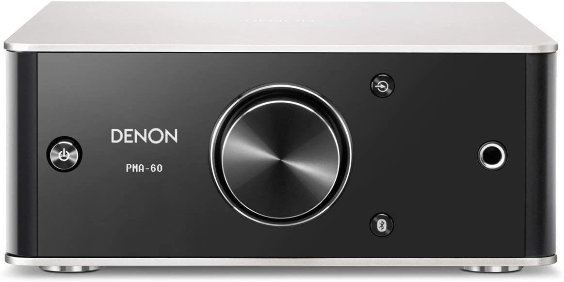 Denon PMA-60 Integrated Stereo Amplifier - Compact Design | 50W x 2 Channels | Bluetooth Streaming, USB-B Input | Horizontal or Vertical Orientation | ...