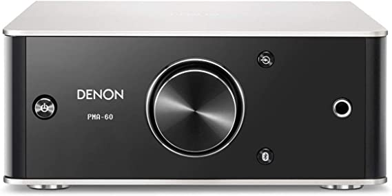 Denon PMA-60 Integrated Stereo Amplifier - Compact Design | 50W x 2 Channels | Bluetooth Streaming