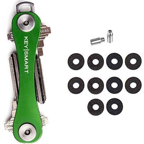 Keysmart 2.0 Compact Key Holder + Expansion Pack - Green (2-10 Keys)