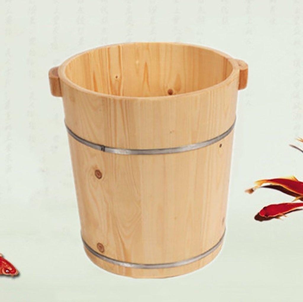 フットバスバレル、固体木の家40センチメートル足バレル、木製フットスパバシン、フットマッサージ洗面器、フットバスバレルサイズ:30 * 40 * 36センチメートル (色 : B) B07F35VB9J A  A
