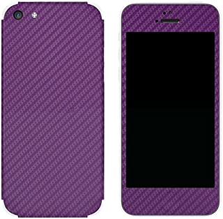 product image for Slickwraps Carbon Fiber Protective Film for iPhone 5c - Purple - Skin - Retail Packaging - Purple
