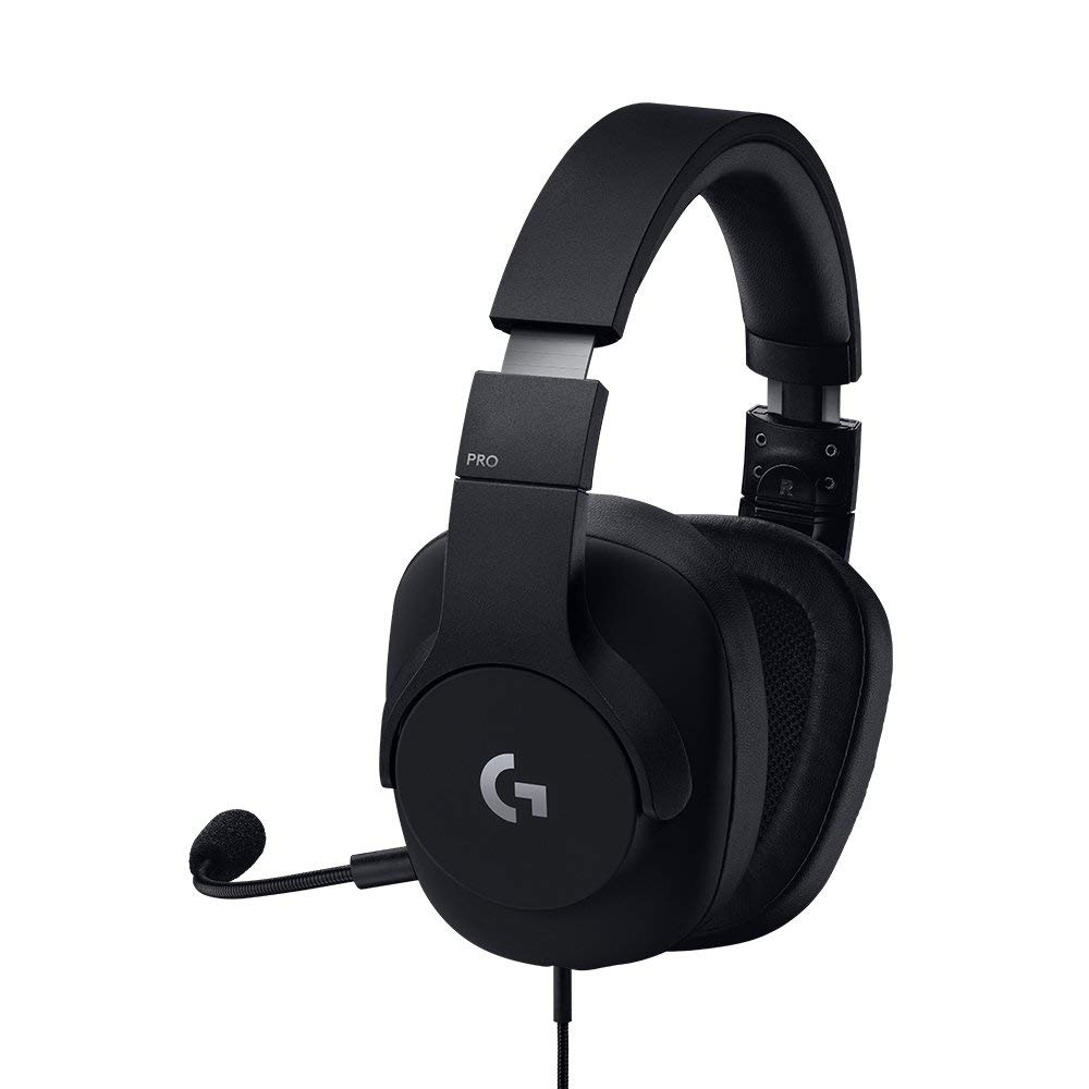 Logitech G Pro Gaming Headset with Pro Grade Mic for Pc, PC VR, Mac, Xbox One, Playstation 4, Nintendo Switch (Certified Refurbished)