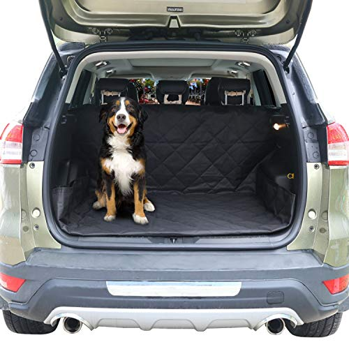 PAW WOW Pet Cargo Liner for SUVs, Vans, Jeep, and Trucks I Heavy Duty Waterproof Material, Non Slip Base I Protect Trunk/Cargo from Scratches and Dirts
