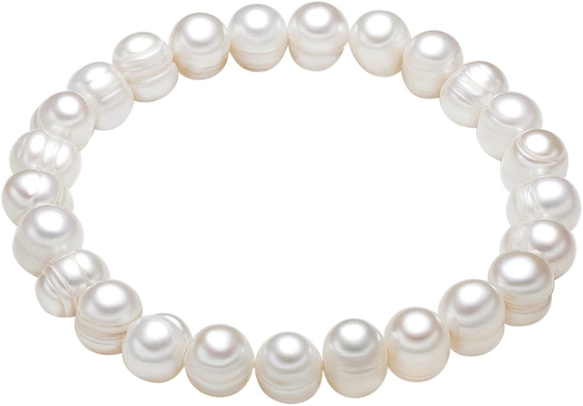 Valero Pearls - Pulsera de perlas embellecida con Perlas de agua dulce - Pearl Jewellery, Pulseras - 446665