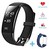 Fitness Tracker Smart Bracelet - Hobest Smart Watch Waterproof Pedometer Activity Tracker with Sleep Monitor - Heart Rate Monitor - Blood Pressure Oxygen Monitor Bluetooth 4.0 for IOS & Android