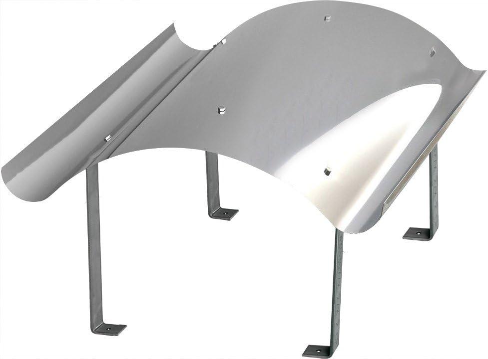 600mm x 600mm Schornsteinabdeckung Kaminabdeckung Kaminhaube Regenhaube aus Edelstahl