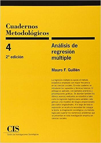 Descargas de libros electrónicos gratis para iphone Cuadernos Metodológicos nº 4. Análisis de regresión múltiple (2ª ed.) in Spanish PDF DJVU FB2