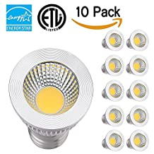 TSCDY PAR16 LED Bulbs,5W (35W Equivalent),3000K Warm White Dimmable LED Light Bulb,450 Lumen,80 Degree Beam Angle,CRI 80+,E26/E27 Base,ETL-Listed and ENERGY STAR Qualified,Pack of 10
