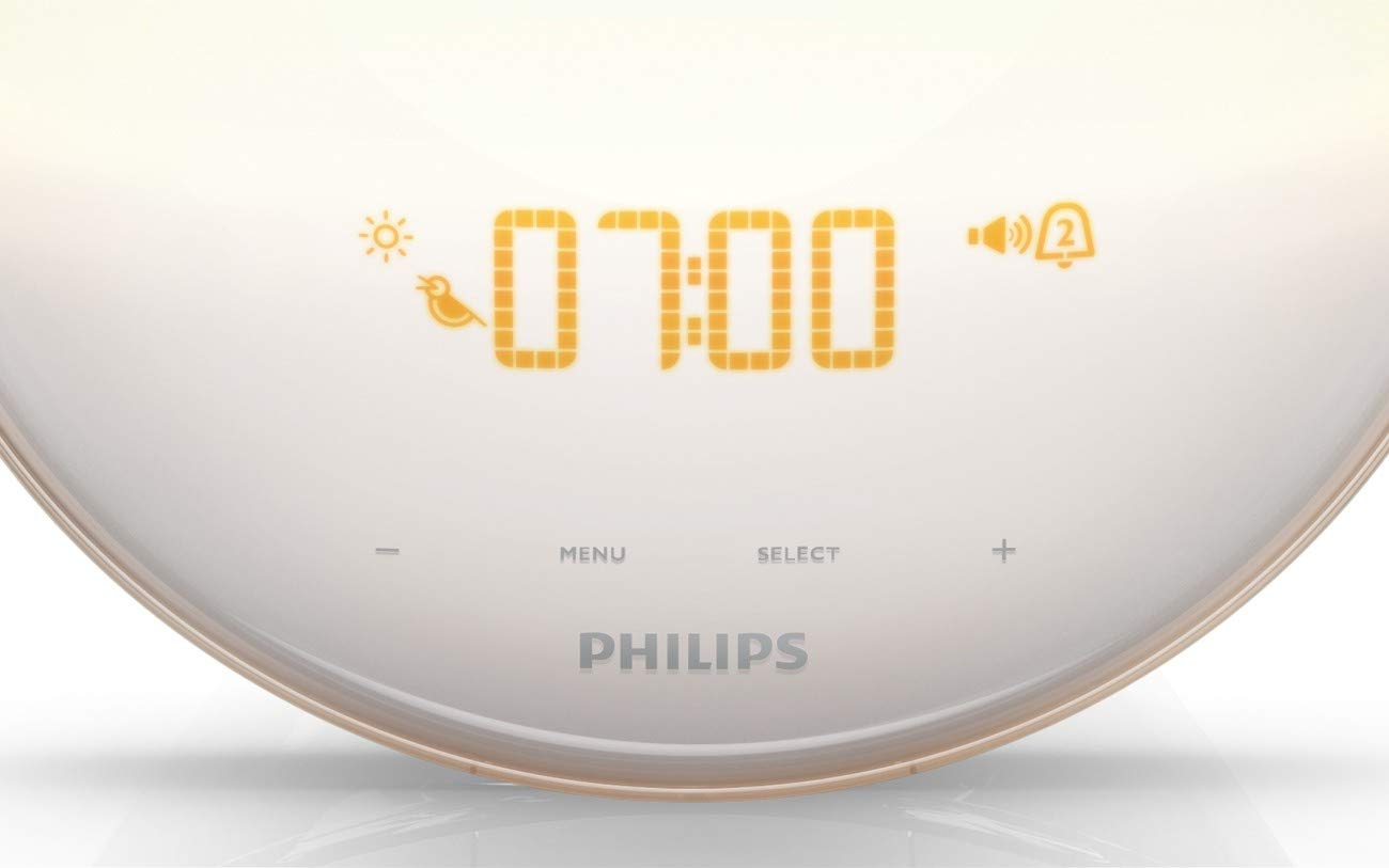 Philips Wake Up Light Alarm Clock With Colored Sunrise