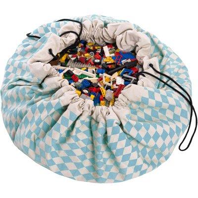 Play & Go Spielzeugsack und Spieldecke Diamant blau