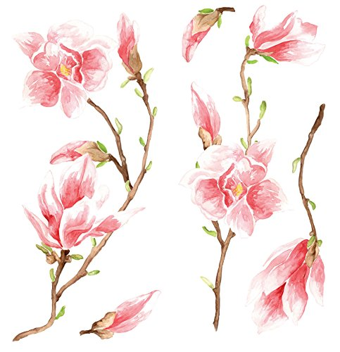 Home Decor Line CR-59155 Magnolia Wall Decal, Pink