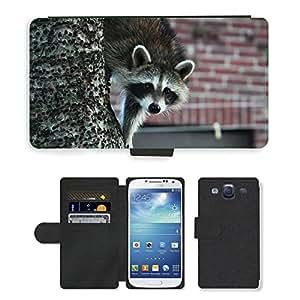 Hot Style Cell Phone Card Slot PU Leather Wallet Case // M00116587 Raccoon Animal Tree Wildlife Wild // Samsung Galaxy S3 S III SIII i9300