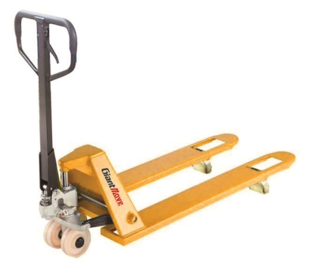 Giant Move MB-P20L-low Steel Low Profile Hand Pallet Truck, 4500 lbs Capacity, 45'' Length x 27'' Width Fork, Yellow