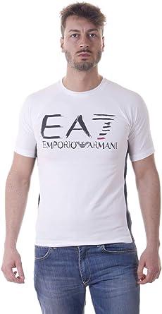 Emporio Armani EA7 - Camiseta Hombre 3YPT59PJ73Z Blanco: Amazon.es: Ropa y accesorios
