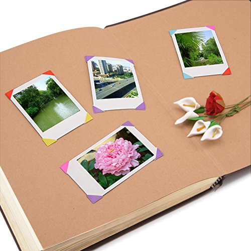 Sunmns 20 Sheets Photo Picture Corners Self Adhesive Stickers for Fujifilm Instax Mini Wide Film, Polaroid Zink