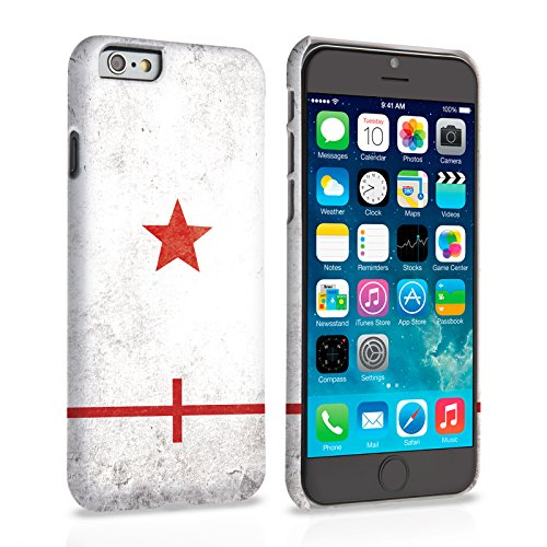 Caseflex iPhone 6 Plus / 6S Plus Hülle England Retro Weltmeisterschaft Hart Schutzhülle (Kompatibel Mit iPhone 6 Plus / 6S Plus - 5.5 Zoll)